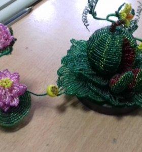 Цветущий арбуз из бисера