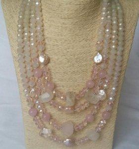 Роскошное ожерелье с жемчугом 'Rose sensuale'