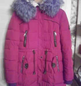 Теплое  Пальто зимнее