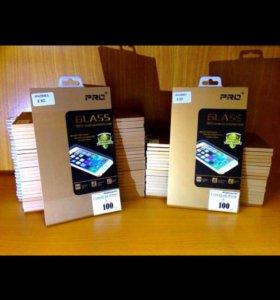 Защитное стекло на iPhone 4/4s, 5/5s, 6/6s.