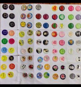 Клеящиеся кнопки для iPhone 4/4s, 5/5s, 6/6s, ipad