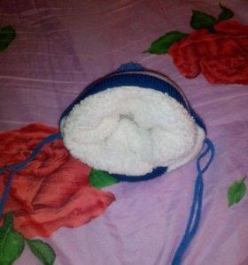 Комбинезон трансформер и зимняя шапочка