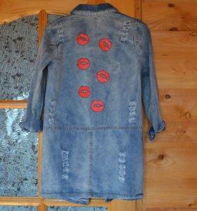 Новое джинсовое пальто
