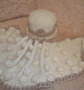 Комплект шляпка и шарф