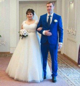 Свадебное платье цвета айвори в Колпино