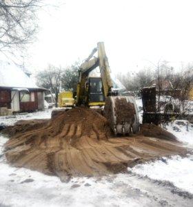Расчистка раскорчевка подготовка участка под строи