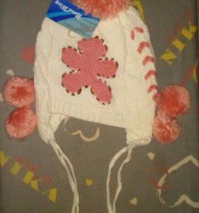 Новая шапочка теплая осень-весна 54-56