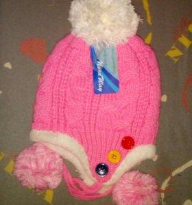 Новая шапочка осень-теплая зима 54-56