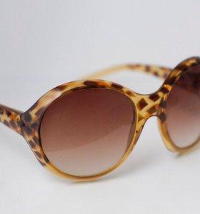 леопардовые солнечные очки