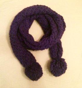 Шарф фиолетовый