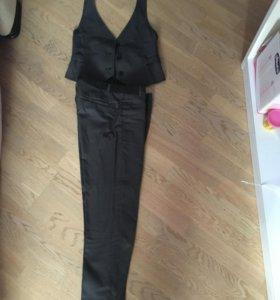 Школьные форма,  брюки с жилеткой и юбка