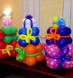 Подарки 🎁 из шаров на Новый год 🎄!