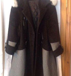 Шерстяное пальто новое, размер 58-60