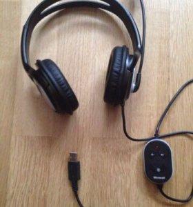Наушники с микрофоном. Microsoft Life Chat Lx-3000