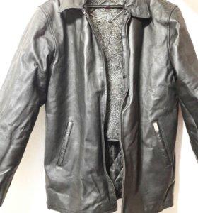 Куртка мужская коженная зимняя