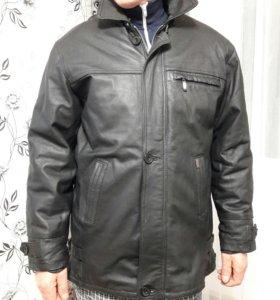 Куртка мужская коженная зимняя.