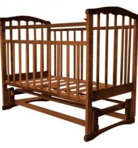 Новая кровать с маятником. Цвет венге