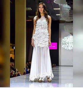Платье трансформер белое кружево