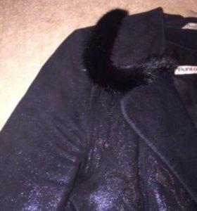 Замшевая куртка с норкой