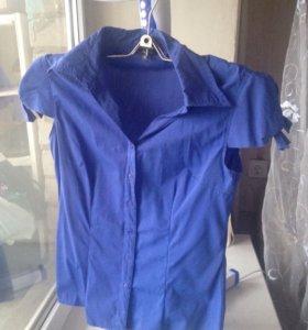 Синяя блуза 2шт р.M