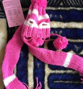 Шапка и шарф для маленькой собаки