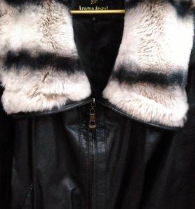 Куртка кожа натуралка с нат.мехом