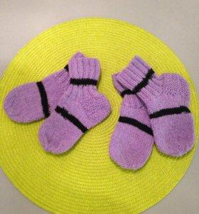 Носки детские теплые шерстяные 23-24-25 размер