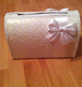 Свадебный сундук для денег