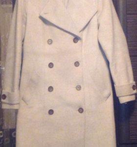 Пальто драповое натуральное шерстяное