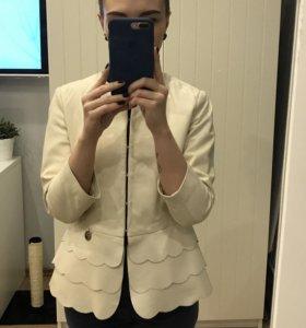 Кожаный пиджак Elisabetta Franchi оригинал