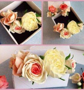 Букет дублёр, бутоньерки, цветы для торта, и др.