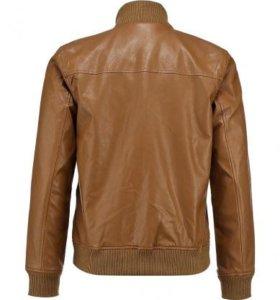Кожаная куртка Adidas Neo
