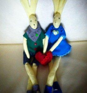 влюбленные зайчишки