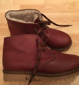 Зимние кожаные ботинки для мальчика