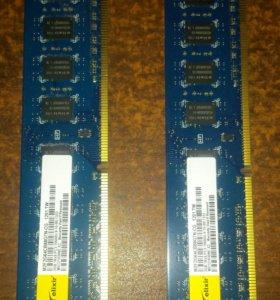Оперативная память ddr3 2gb 2шт