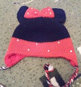 Зимняя шапка мини-маус
