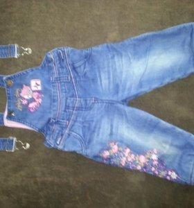 Комбинезон джинсовый для девочки