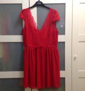 Красное платье асос