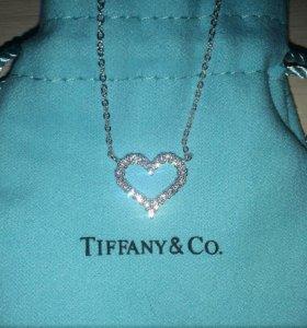 Подвеска Сердце Tiffany Style в стиле тиффани