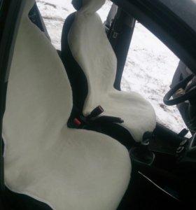 Меховая накидка на сиденья авто