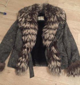 Куртка с мехом чернобурка