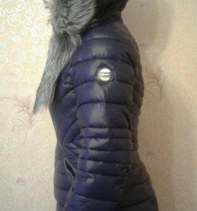Пуховик-пальто. зима.