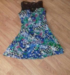 Джинсы(новое),платье(новое),блузка(синяя) белая