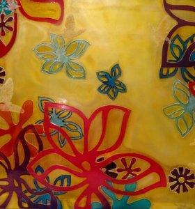 Лето,цветы,бабочки. Расписная ниша