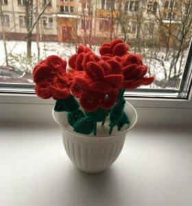 Элемент декора цветы