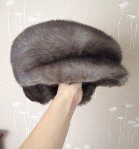 Шапка с ушами норковая