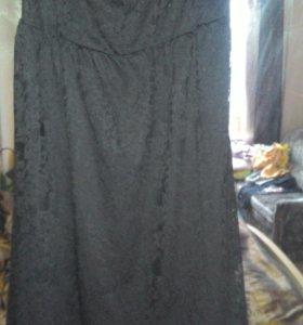 Платье гипюровое черное новое