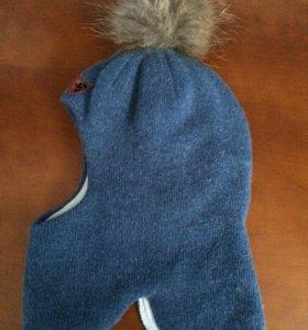 Зимняя шапка-шлем из шерсти