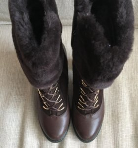 Зимние сапоги натуральная замша/кожа/овчина