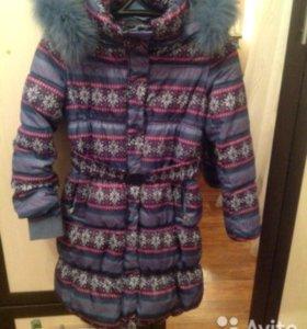 Пальто зимнее на девочку (134-140)